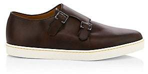 John Lobb Men's Holme Suede Double Monk-Strap Sneakers