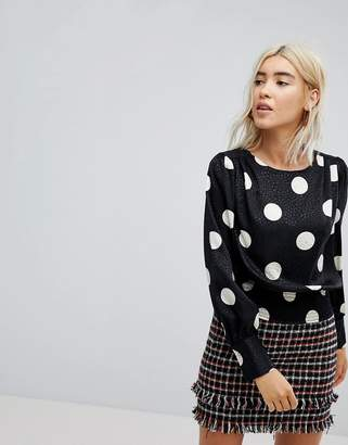 New Look 80's Spot Blouse