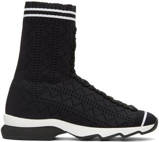 Fendi Black Sock High-Top Sneakers $880 thestylecure.com