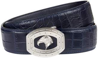 Stefano Ricci Crocodile Skin Eagle Belt