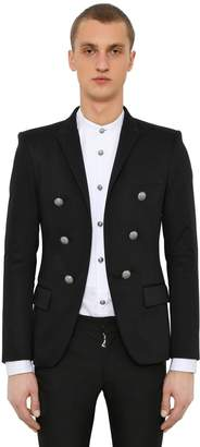 Balmain 6 Buttons Satin Cotton Jacket