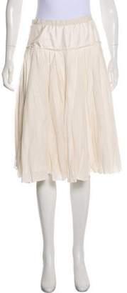 Louis Vuitton Gathered Knee-Length Skirt
