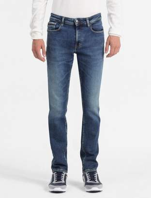 Calvin Klein slim straight light wash jeans