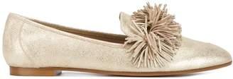 Aquazzura Gold Wild Leather loafers