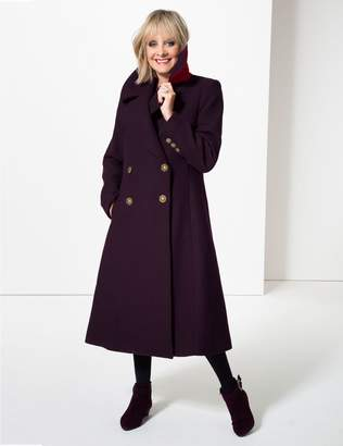 Marks and Spencer Wool Blend Double Breasted Duster Coat