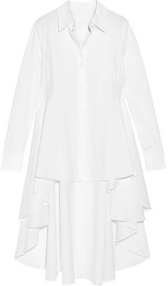 Co - Asymmetric Cotton-poplin Shirt - White $495 thestylecure.com