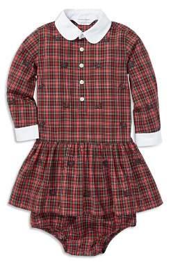Ralph Lauren Girls' Plaid Scottie Dress & Bloomers Set - Baby