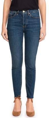 Sezane 1967 - The Brut Sexy Raw Hem High Waist Skinny Jeans
