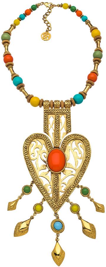 Ben-Amun Bali Heart Statement Necklace