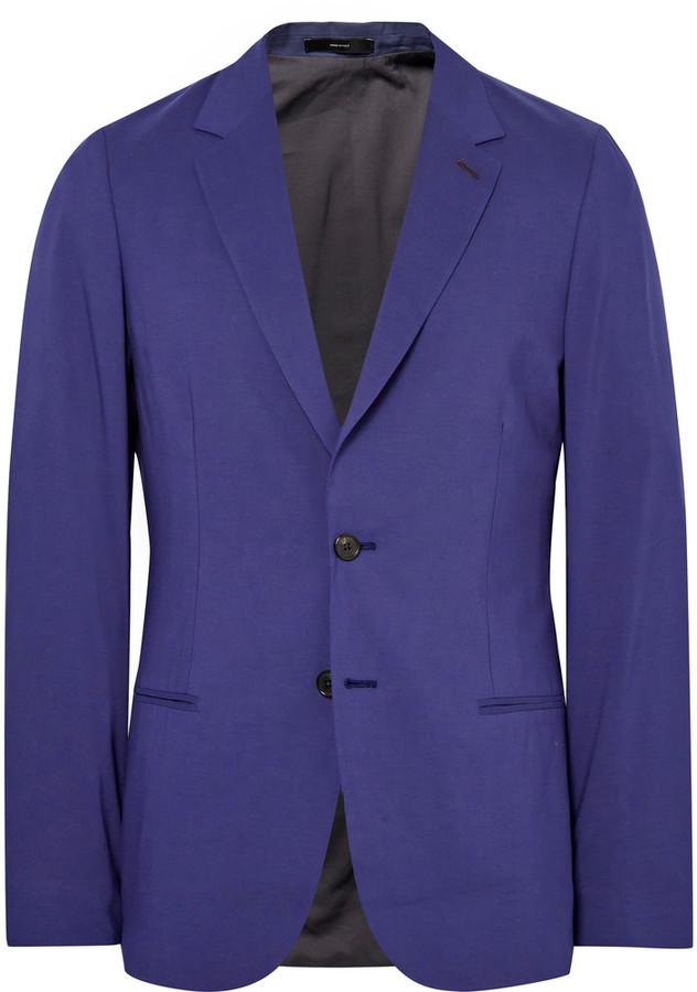 Paul SmithPaul Smith Blue Slim-Fit Modal, Cotton and Cashmere-Blend Blazer
