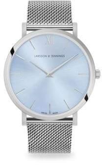 Larsson & Jennings Lugano Solaris Silvertone Bracelet Watch
