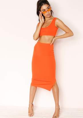 Missy Empire Missyempire India Orange Midi Co-ord Set