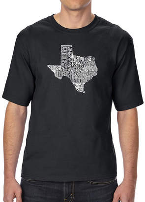 The Great LOS ANGELES POP ART Los Angeles Pop Art Men's Tall and Long Word Art T-shirt State of Texas