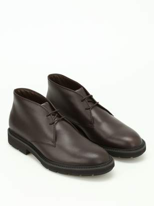 Tod's Brushed Leather Desert Boots