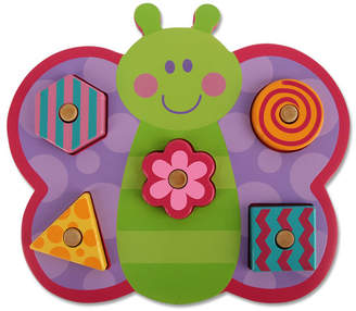 Stephen Joseph Butterfly Shaped Wooden Peg Puzzle