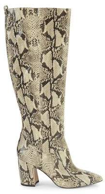 Sam Edelman Hai Snakeskin-Print Leather Knee-High Boots