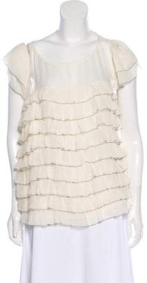 By Malene Birger Short Sleeve Tiered Blouse