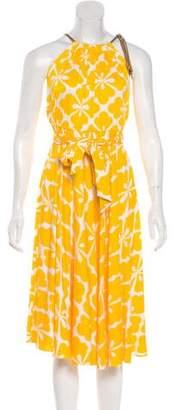 Diane von Furstenberg Floral Halter Dress