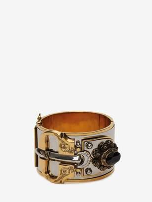 Alexander McQueen Medieval Buckle Cuff Bracelet