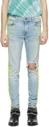 Amiri Indigo Broken Painter Track Jeans