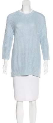 Theory Linen-Blend Rib Knit Sweater