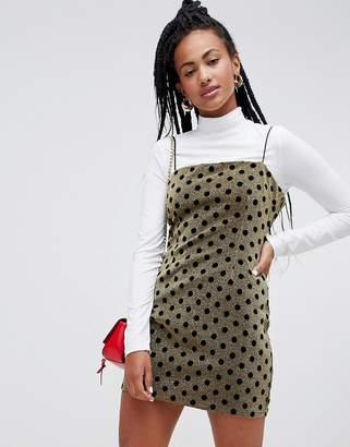 Glamorous 90's cami dress in glitter spot