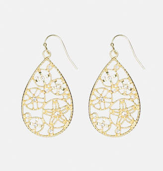 Avenue Flower Cutout Teardrop Earrings
