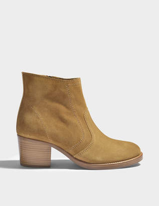 A.P.C. Anna Camarguaises Shoes in Caramel Cowskin