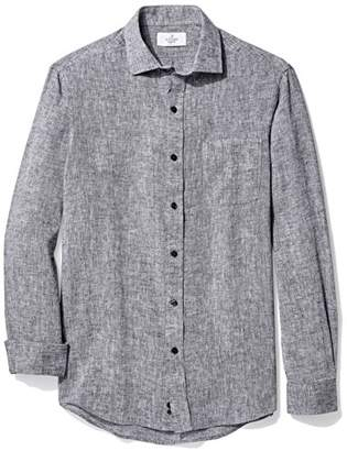 Buttoned Down Men's Classic Fit Casual Linen Sport Shirt