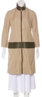 Gryphon Zip-Accented Knee-Length Coat