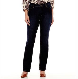 LIZ CLAIBORNE Liz Claiborne Curvy-Fit Bootcut Jeans - Tall $29.99 thestylecure.com