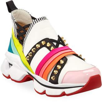 Christian Louboutin 123 Run Rainbow Red Sole Sneakers