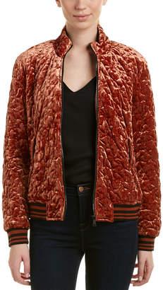 Bernardo Velvet Track Jacket
