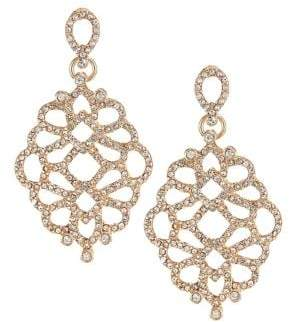 Etereo Pave Crystal Filigree Drop Earrings