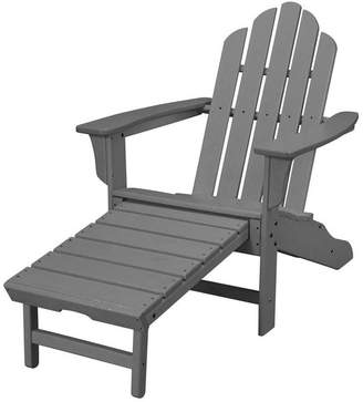 Adirondack Hanover All-Weather Contoured Chair, Hideaway Ottoman