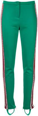 Gucci crystal embellished stirrup leggings