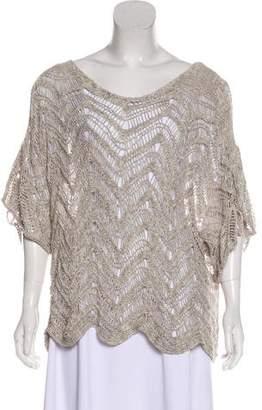 Eileen Fisher Open Knit Short Sleeve Top