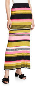 Kennedy Striped Sweater Maxi Skirt