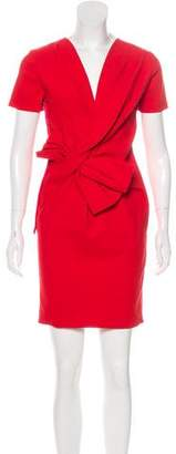 Lanvin Bow-Accented Mini Dress w/ Tags