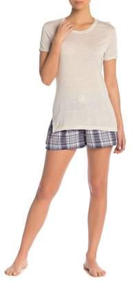 PJ Salvage Plaid Please Flannel PJ Shorts