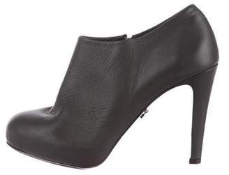Schumacher Leather Round-Toe Booties