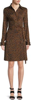 Diane von Furstenberg Didi Side-Tie Leopard-Print Dress
