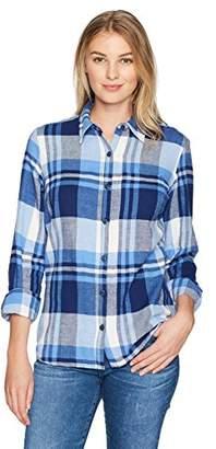 Dickies Women's Long Sleeve Plaid Shirt