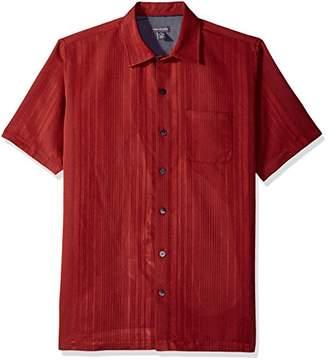 Van Heusen Men's Printed Rayon Short Sleeve Shirt