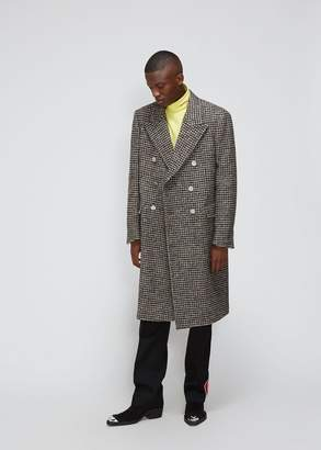 Calvin Klein Houndstooth Double Breasted Coat