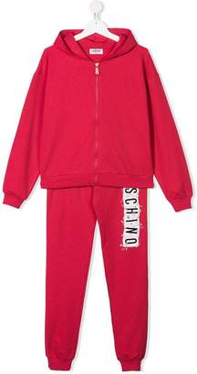 Moschino Kids TEEN hooded tracksuit set
