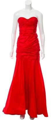 Michael Kors Silk Strapless Evening Dress