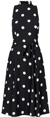 Ralph Lauren Polka-Dot Crepe Midi Dress $175 thestylecure.com
