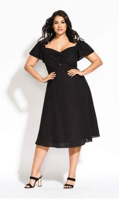 City Chic Citychic Pretty Picnic Dress - black