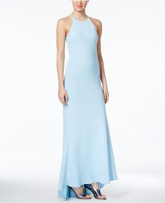 Calvin Klein Crepe Halter Gown $199 thestylecure.com